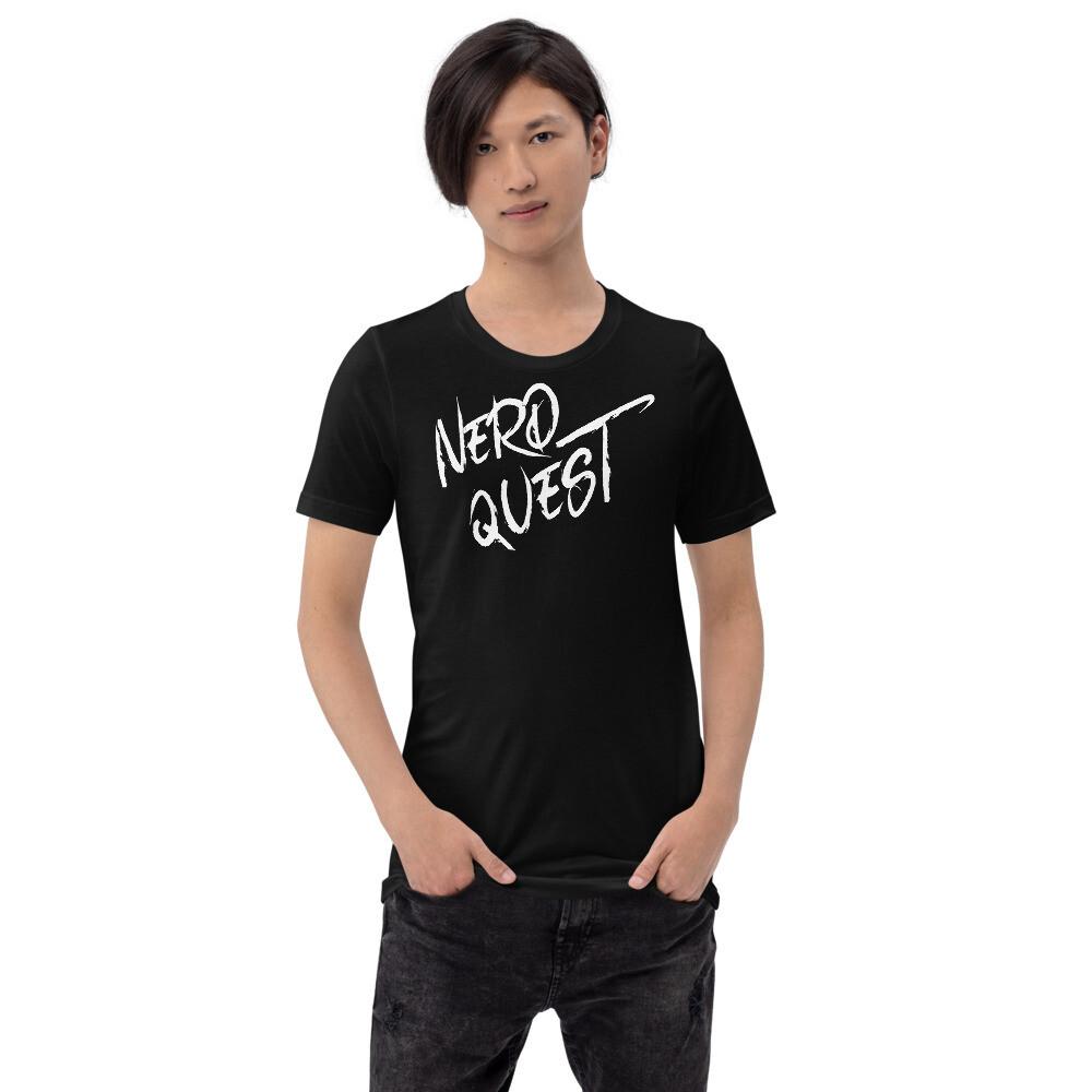 Nerd Quest Black and White Geek Gamer Gear Short-Sleeve Unisex T-Shirt