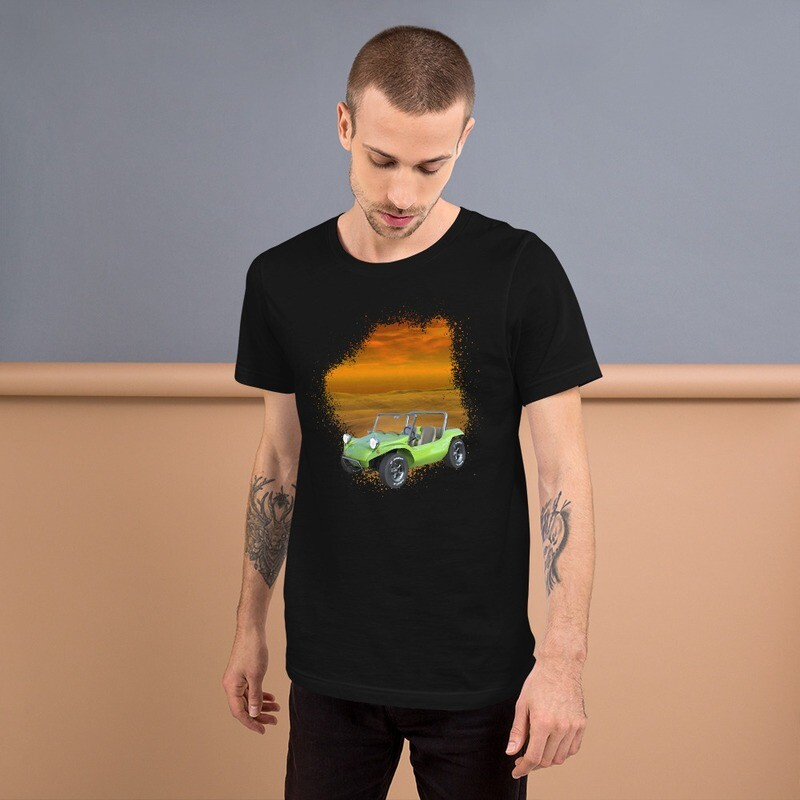 Sunset Green Dune Buggy Short-Sleeve Unisex T-Shirt