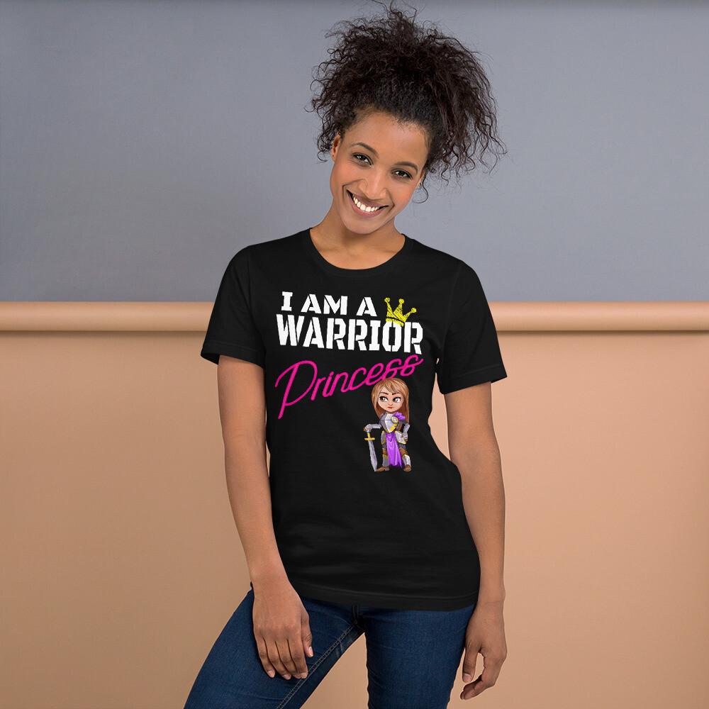 I am a Warrior Princess Brunette Short-Sleeve Unisex T-Shirt