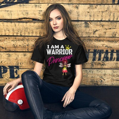 I am a Warrior Princess Winged Red Dress Fairy Short-Sleeve Unisex T-Shirt