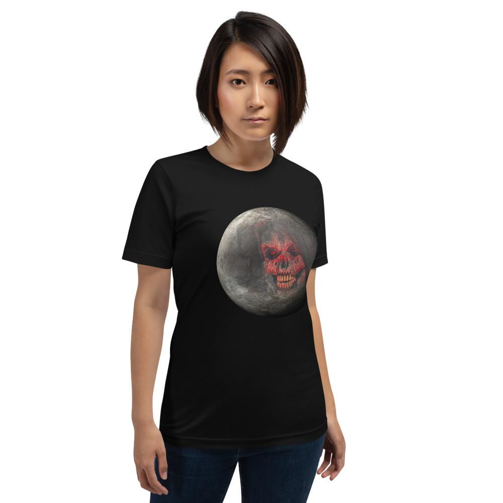 Full Moon Blood Skull Short-Sleeve Unisex T-Shirt