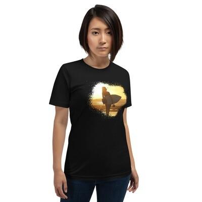 Sunset Surfing Short-Sleeve Unisex T-Shirt