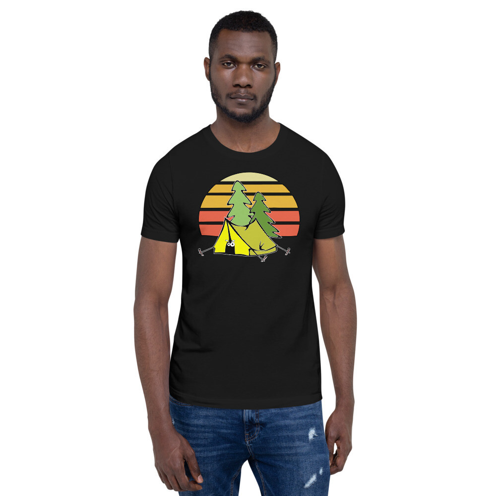 Retro Tent Camping Short-Sleeve Unisex T-Shirt