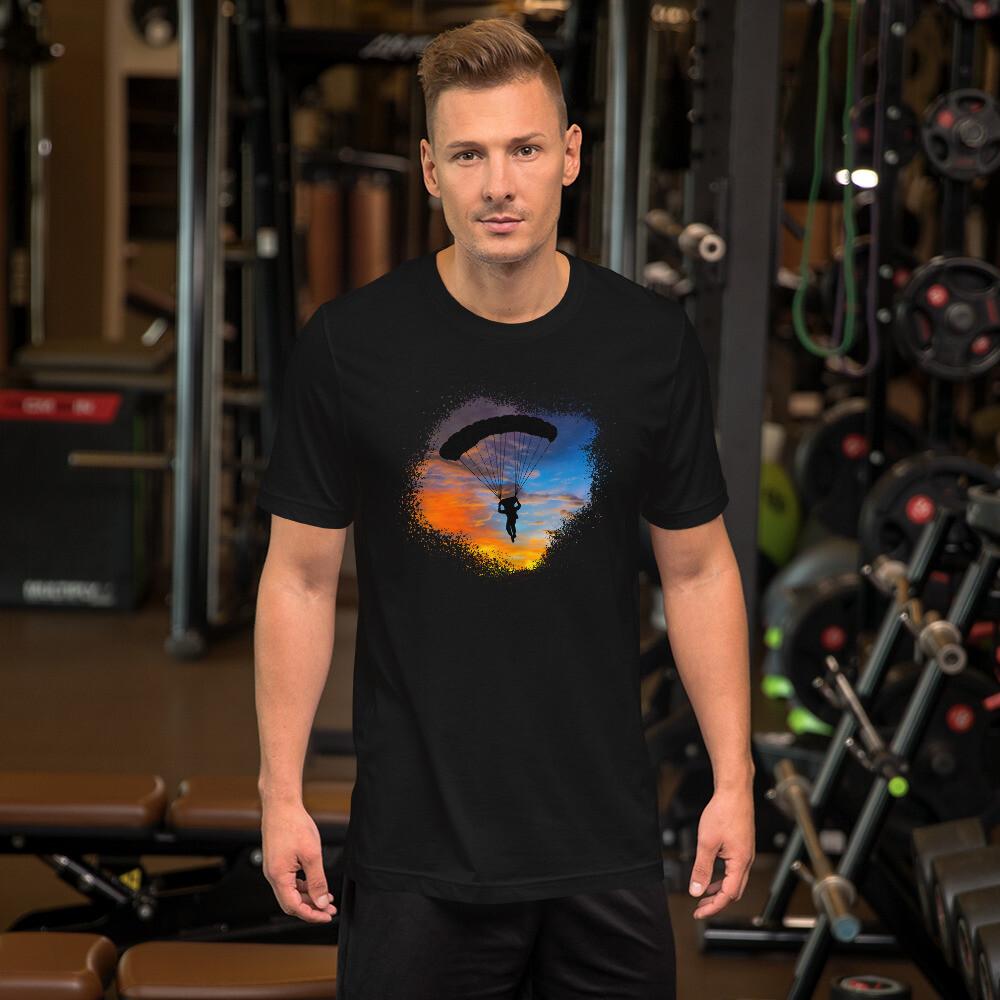 Sunset Sky Diving Short-Sleeve Unisex T-Shirt