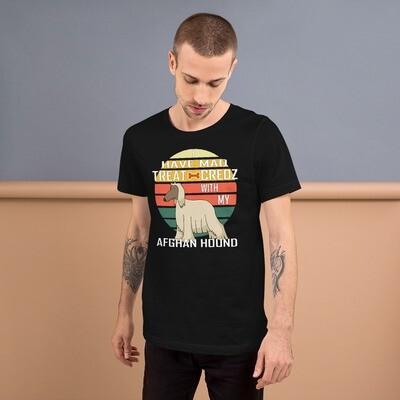 Retro Afghan Hound Short-Sleeve Unisex T-Shirt