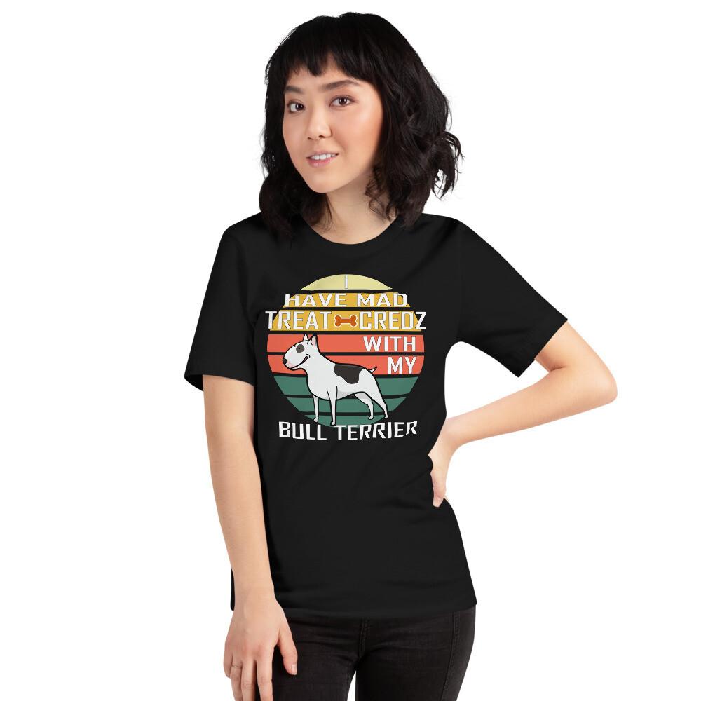 Retro Sunset Bull Terrier Dog Lover. Short-Sleeve Unisex T-Shirt