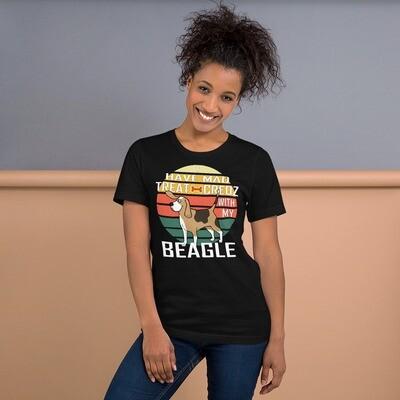 Retro Sunset Beagle Dog Lover Short-Sleeve Unisex T-Shirt