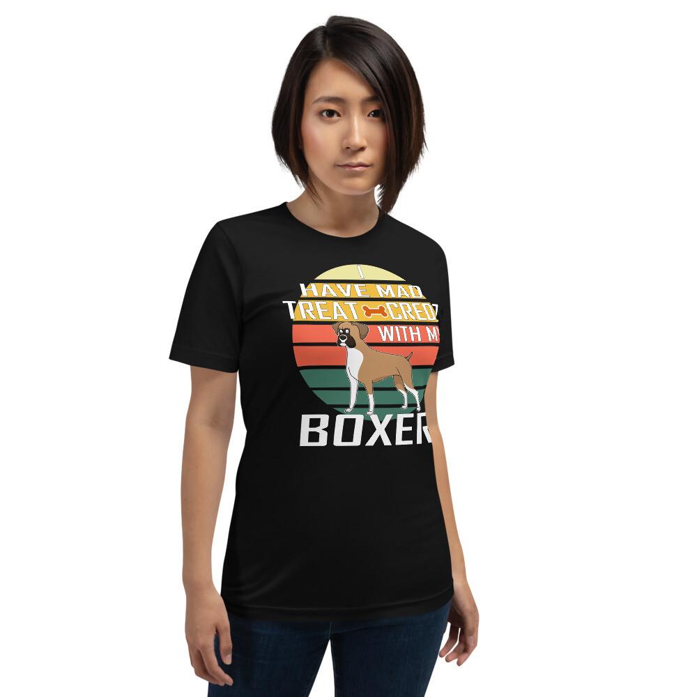 Retro Sunset Boxer Dog Lover Short-Sleeve Unisex T-Shirt