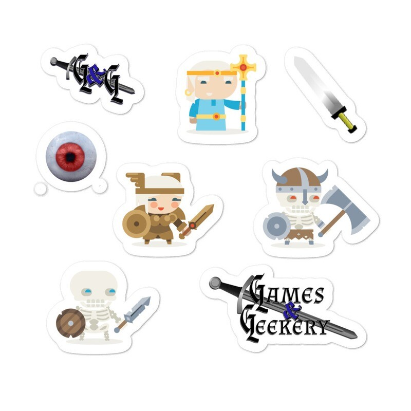 Games & Geekery #1 Bubble-free stickers