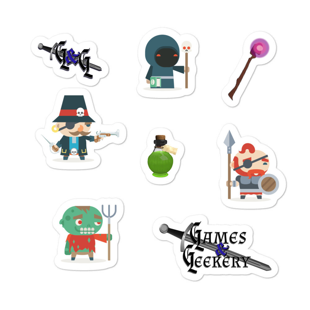 Games & Geekery # 6 Bubble-free stickers