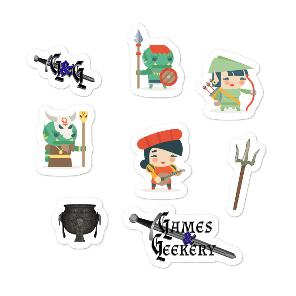 Games & Geekery #2 Bubble-free stickers