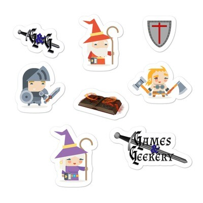 Games & Geekery #3 Bubble-free stickers
