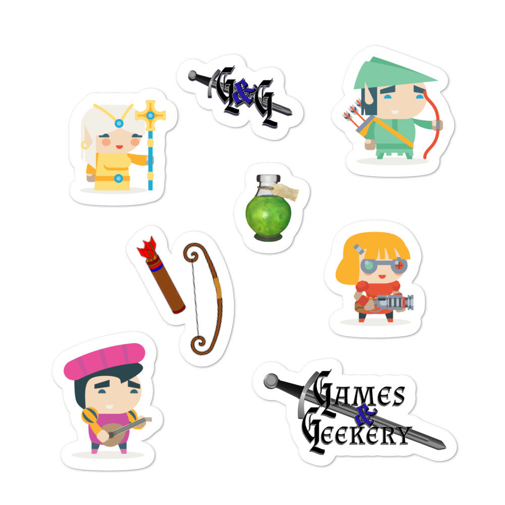 Games & Geekery # 5 Bubble-free stickers