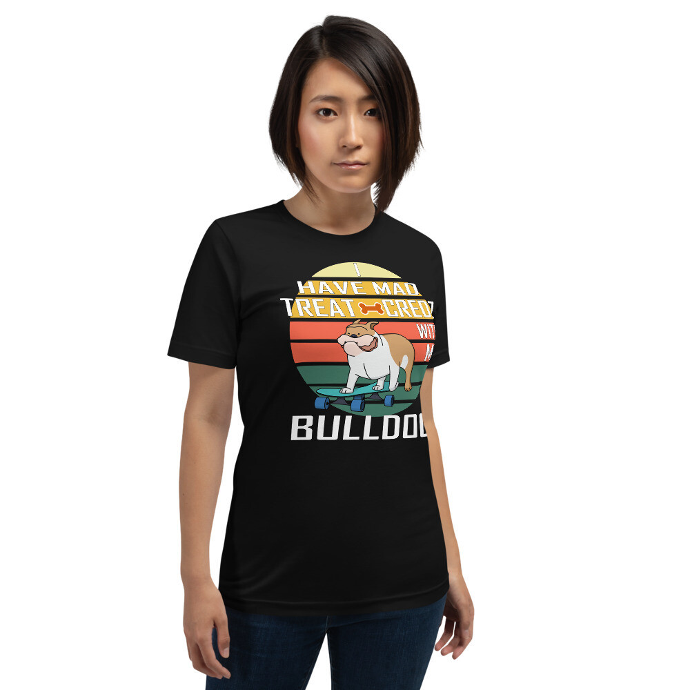 Retro Skateboarding Bull Dog Short-Sleeve Unisex T-Shirt