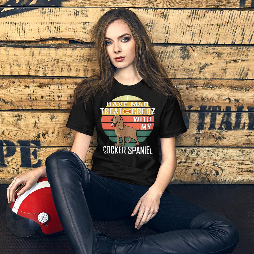 Retro Cocker Spaniel Dog Lover Short-Sleeve Unisex T-Shirt