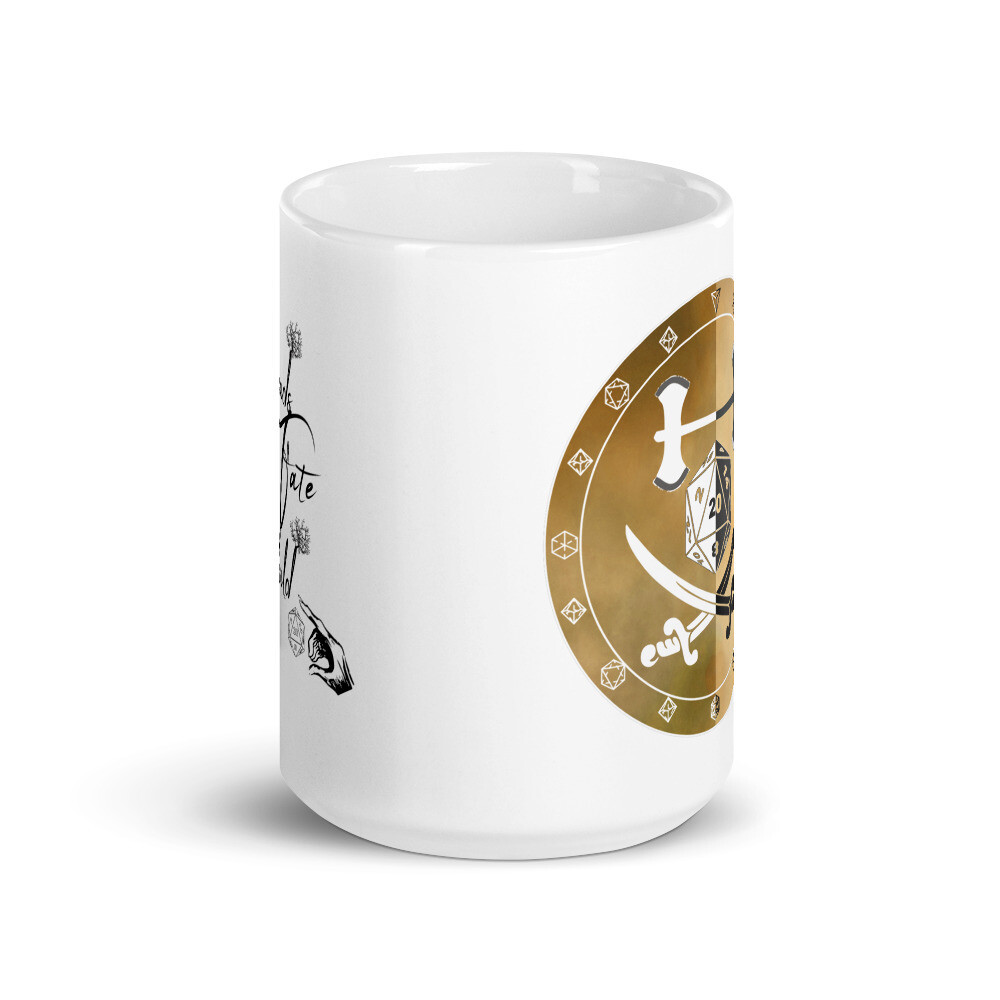 Threads of Fate Skuld Character Shield Fighter White glossy mug