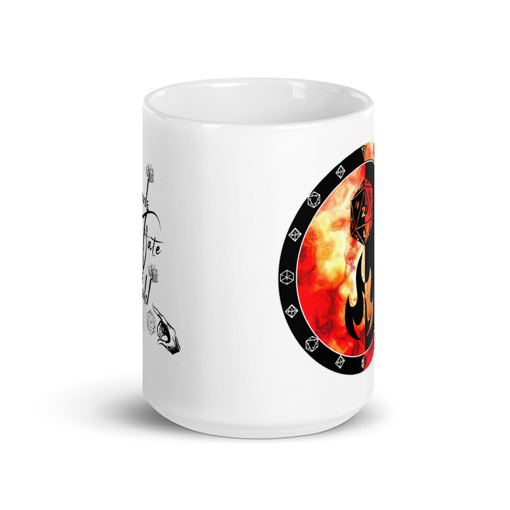 Threads of Fate Skold Character Shield Sorcerer White glossy mug