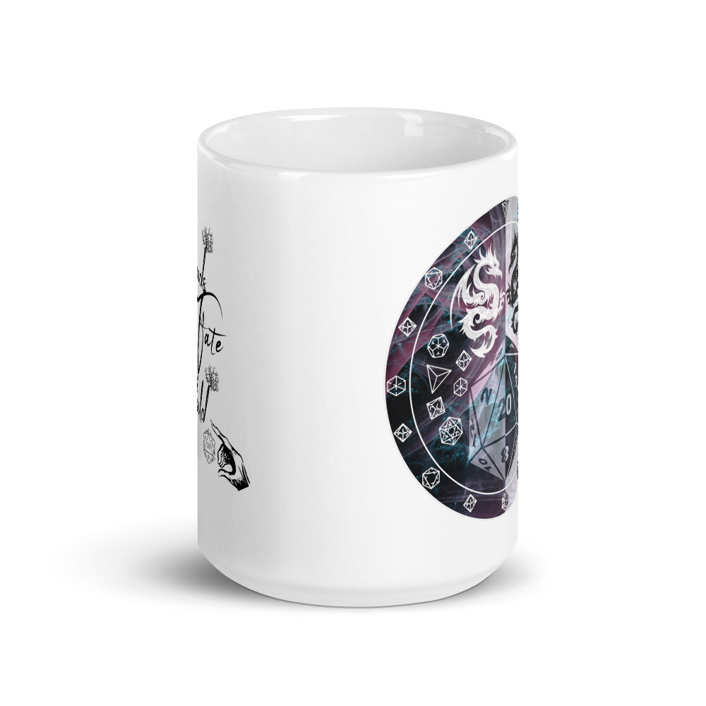 Threads of Fate Skuld DM White glossy mug