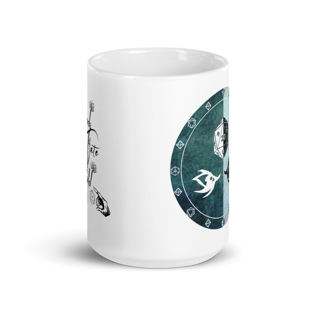 Threads of Fate Skuld Character Shield Warlock White glossy mug