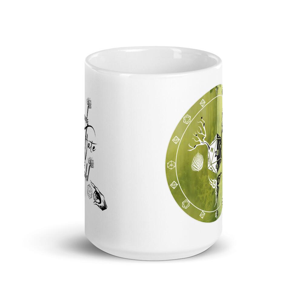 Threads of Fate Skuld Character Shield Druid White glossy mug