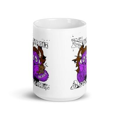 Merch Beast Apparel Partial Color Fan Gear.White glossy mug