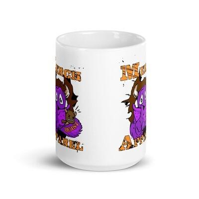 Merch Beast Apparel Full Color Fan Gear White glossy mug