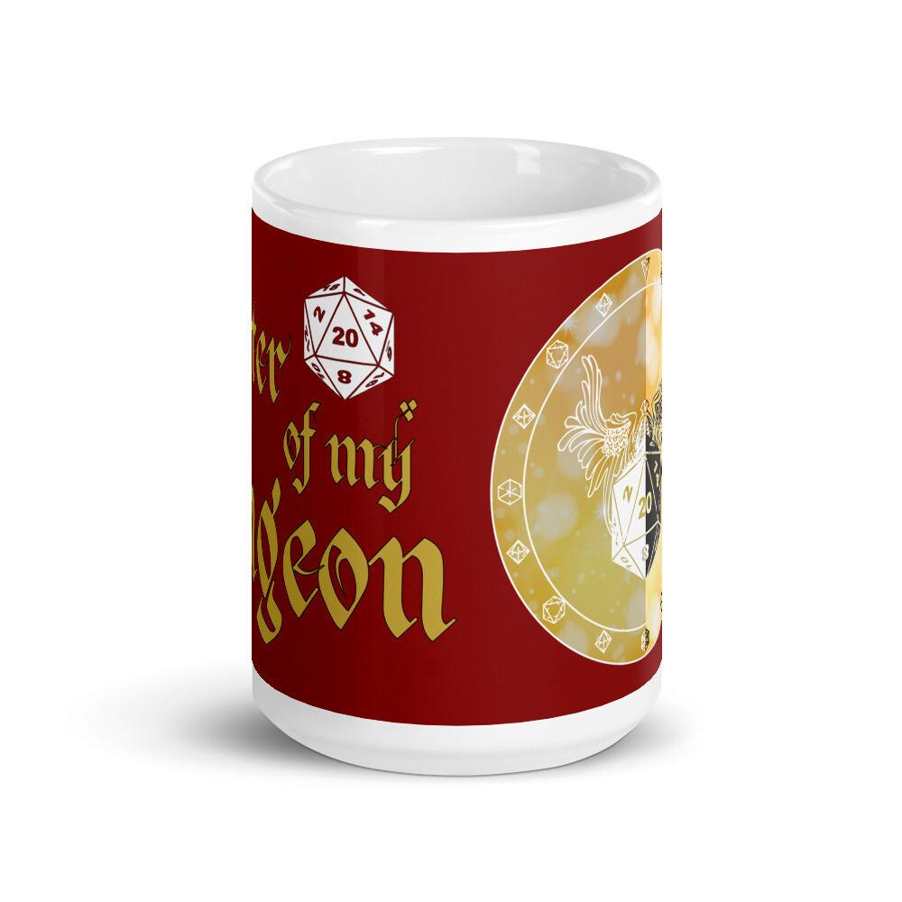 Paladin Shield Red Banner White glossy mug