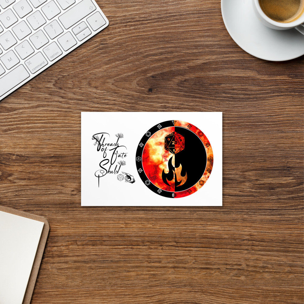 Threads of Fate Skuld Character Shield Sorcerer Standard Postcard