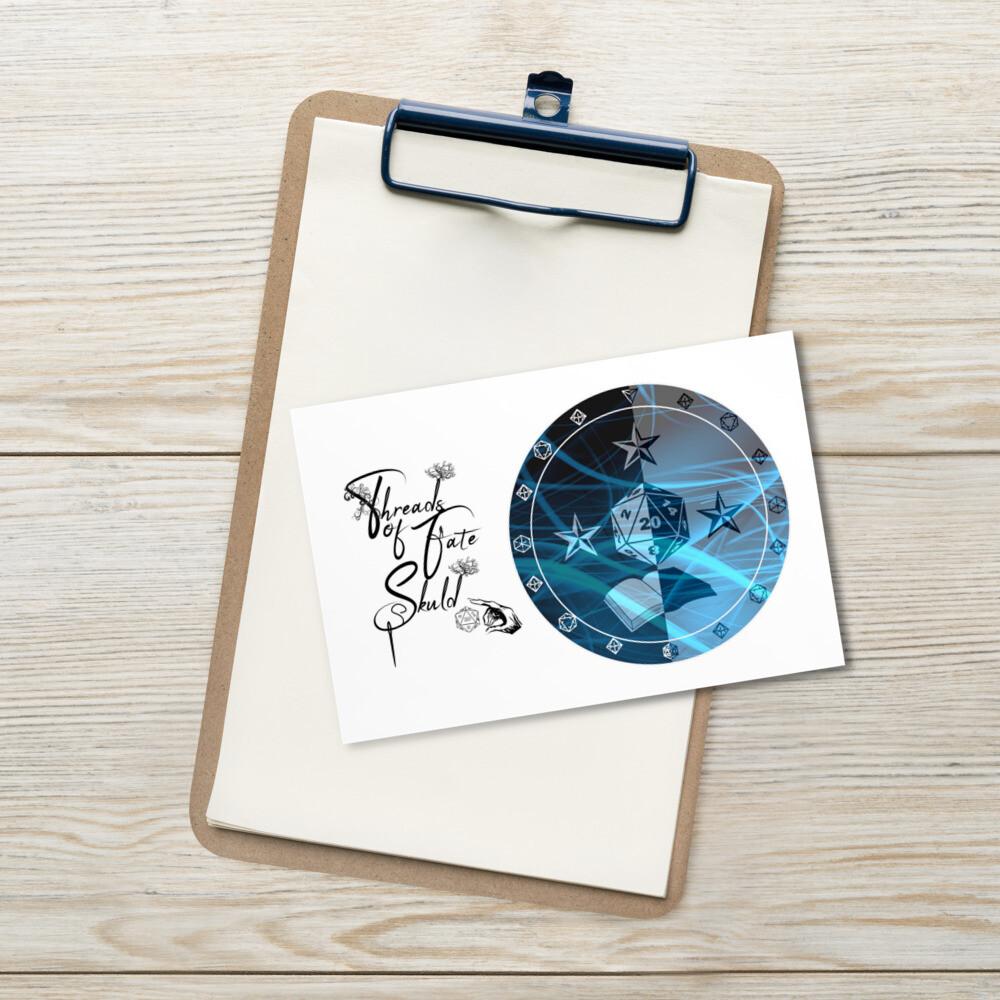 Threads of Fate Skuld Character Shield Wizard Standard Postcard