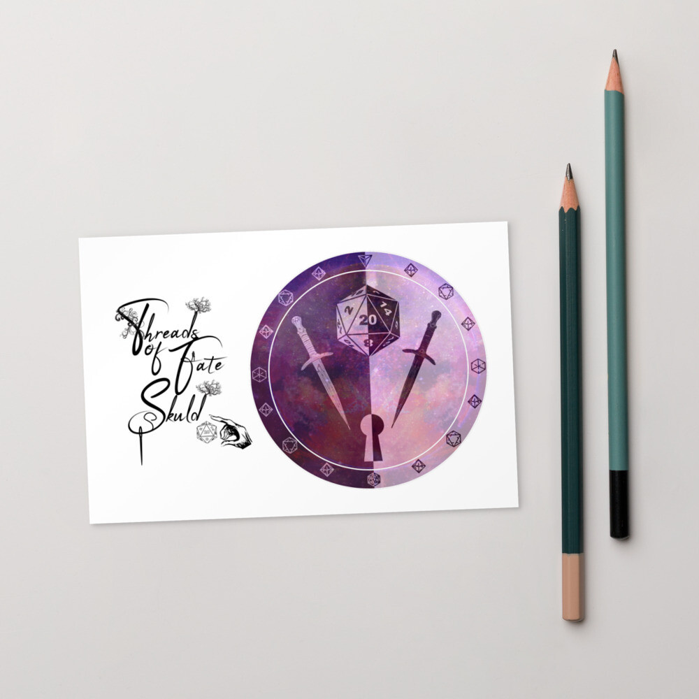 Threads of Fate Skuld Character Shield Rogue Standard Postcard
