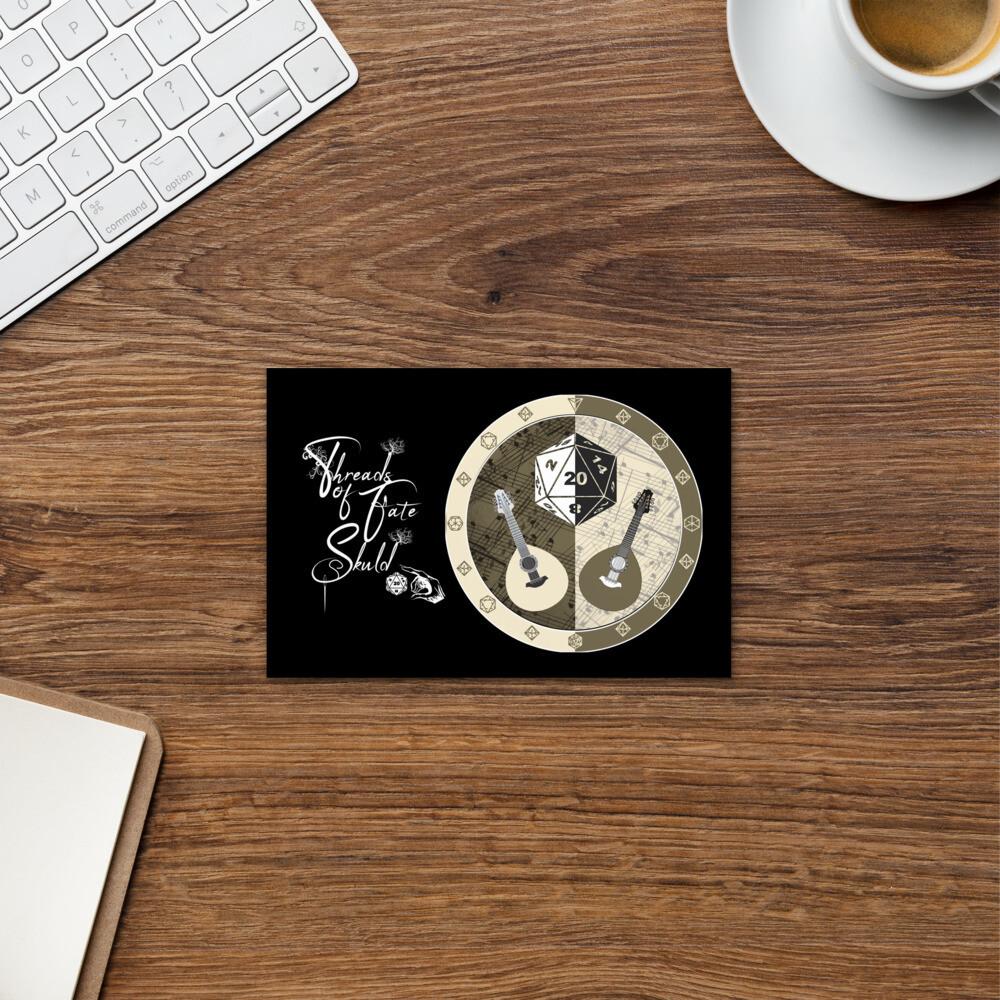Character Shield Bard Threads of Fate Skuld Standard Postcard