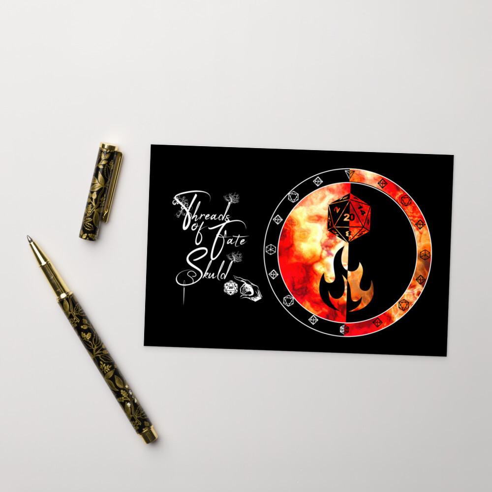 Character Shield Sorcerer Threads of Fate Skuld Standard Postcard