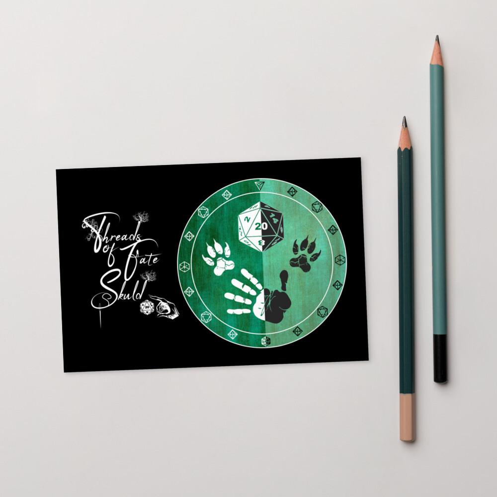 Character Shield Ranger Threads of Fate Skuld Standard Postcard