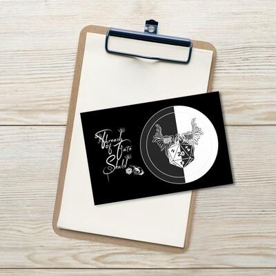 Character Shield Paladin B&W Standard Postcard