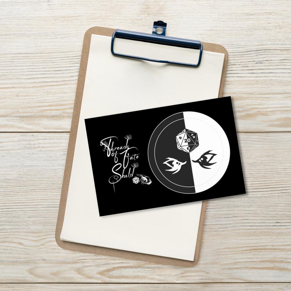 Character Shield Warlock B&W Standard Postcard