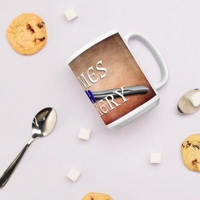 Merch Logo Games -N- Geekery Textured White glossy mug