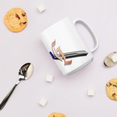 Games -N- Geekery Logo White glossy mug