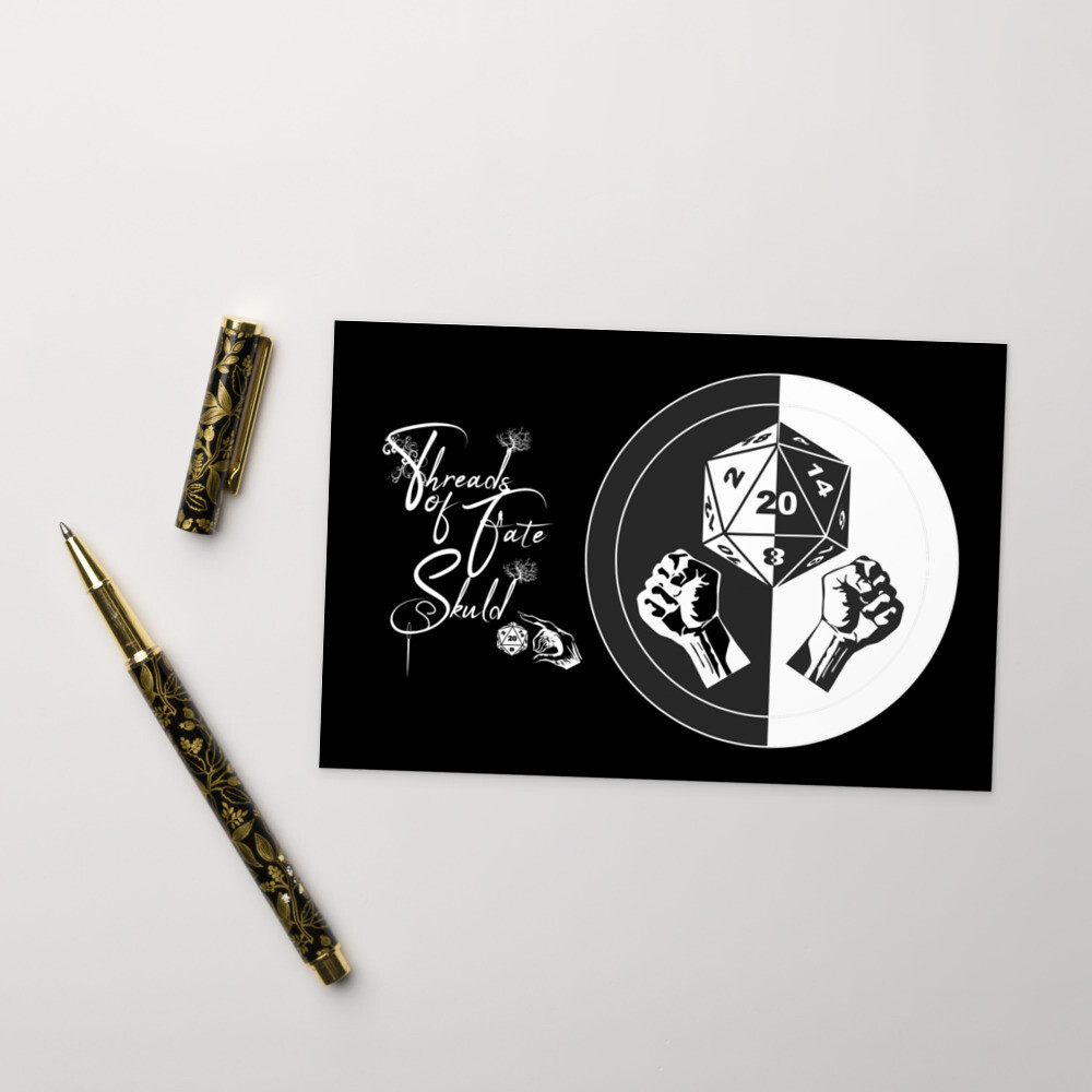 Character Shield Monk B&W Standard Postcard