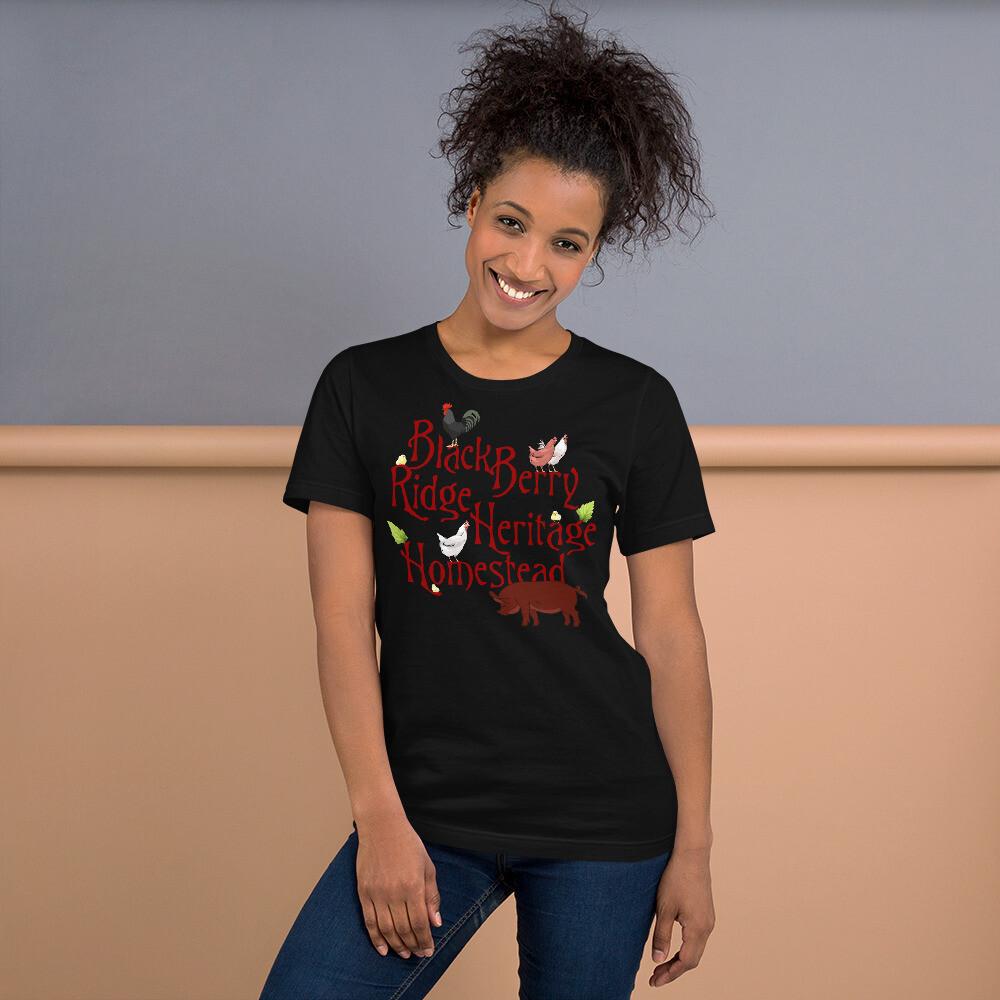 BlackBerry Ridge Heritage Homestead Logo Fan Gear Short-Sleeve Unisex T-Shirt