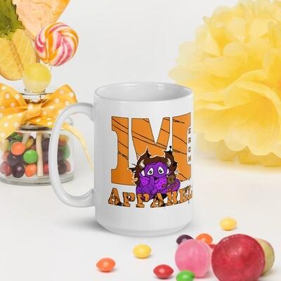 Full Color Merch Beast Apparel Fan Gear White glossy mug