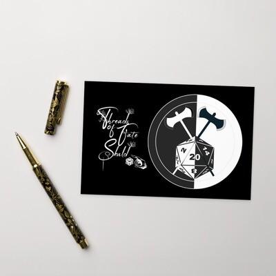 Character Shield Barbarian B&W Standard Postcard