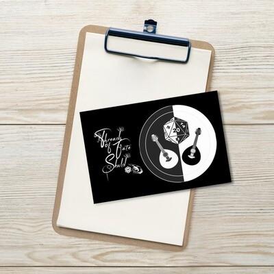 Character Shield Bard B&W Standard Postcard