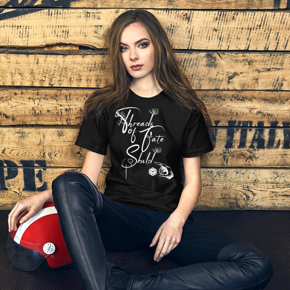 Threads of Fate Skuld Banner Logo Short-Sleeve Unisex T-Shirt