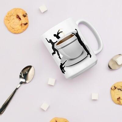 Must Have Coffee Zombie Response White glossy mug