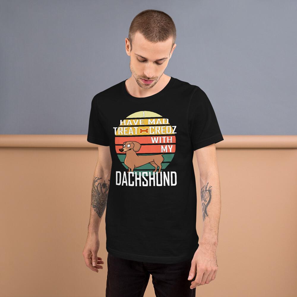 Retro Sunset Dachshund Dog Lovers Short-Sleeve Unisex T-Shirt