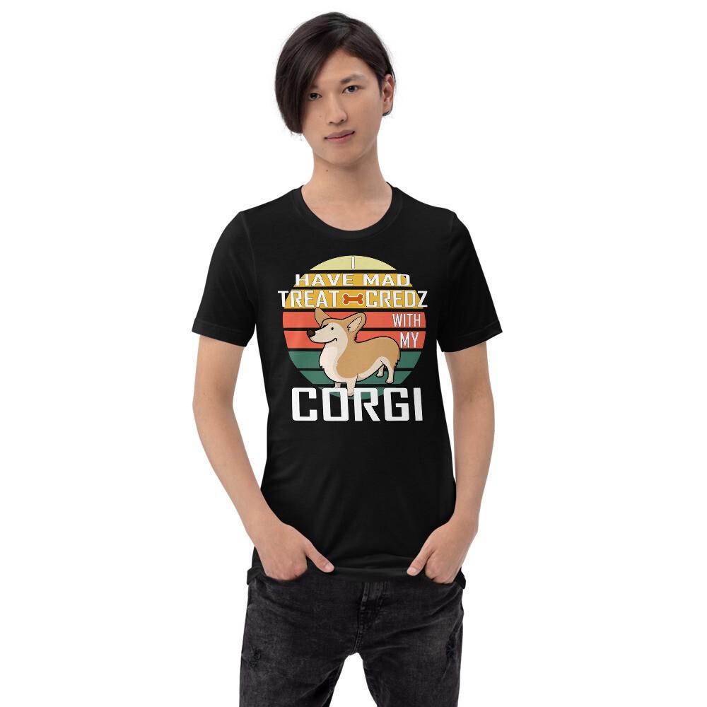 Retro Sunset Corgi Dog Lovers Short-Sleeve Unisex T-Shirt