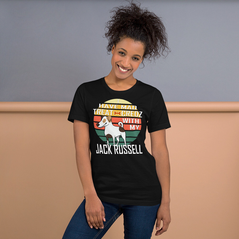 Retro Sunset Jack Russell Dog Lover Short-Sleeve Unisex T-Shirt