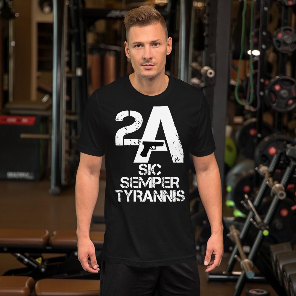 Pro Gun 2A Sic Semper Tyrannis Short-Sleeve Unisex T-Shirt