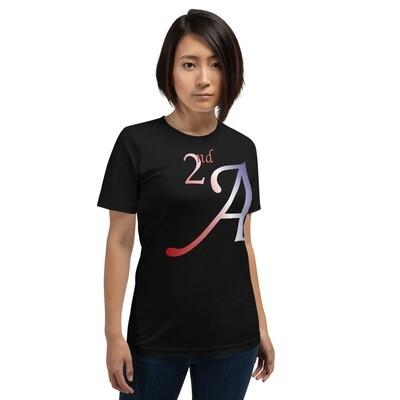 Pro Gun 2nd Amendment  Red White and Blue Short-Sleeve Unisex T-Shirt