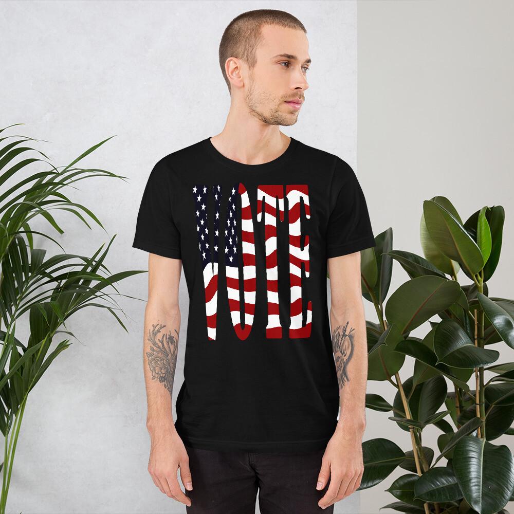 Vote US Flag Short-Sleeve Unisex T-Shirt